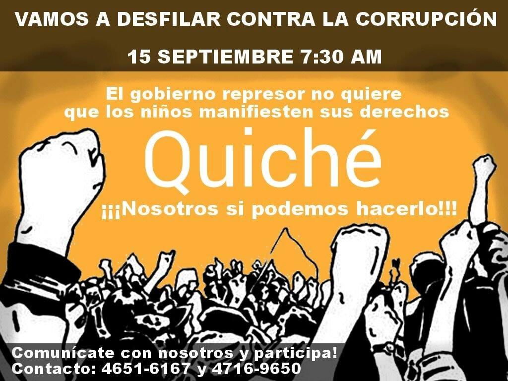 corrupcion desfiles septiembre fiestas patrias quiche