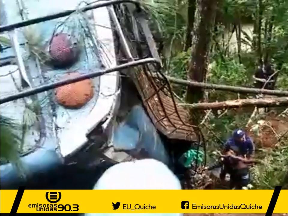 Accidente bus Nebaj Quiché Emisoras Unidas