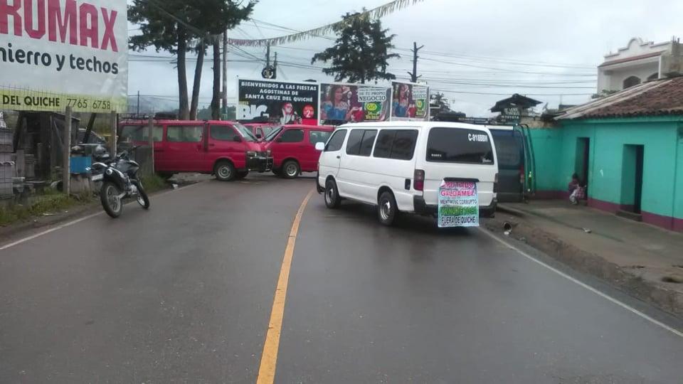 bloqueos transportistas quiche xatinap