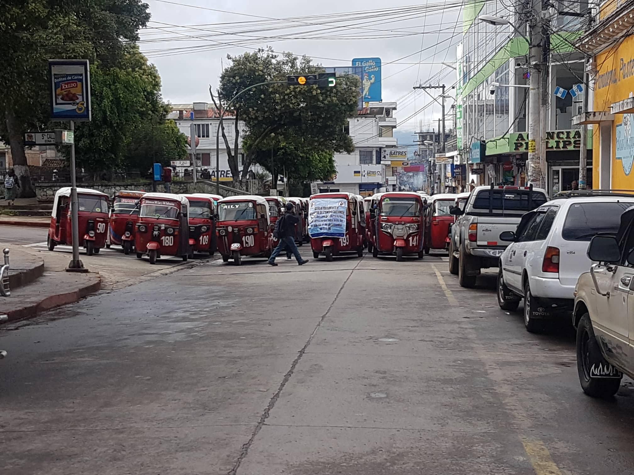 parque quiche transportista bloqueos
