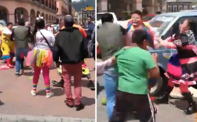 Video Viral Pelea Payasos Toluca Estado de México Emisoras Unidas