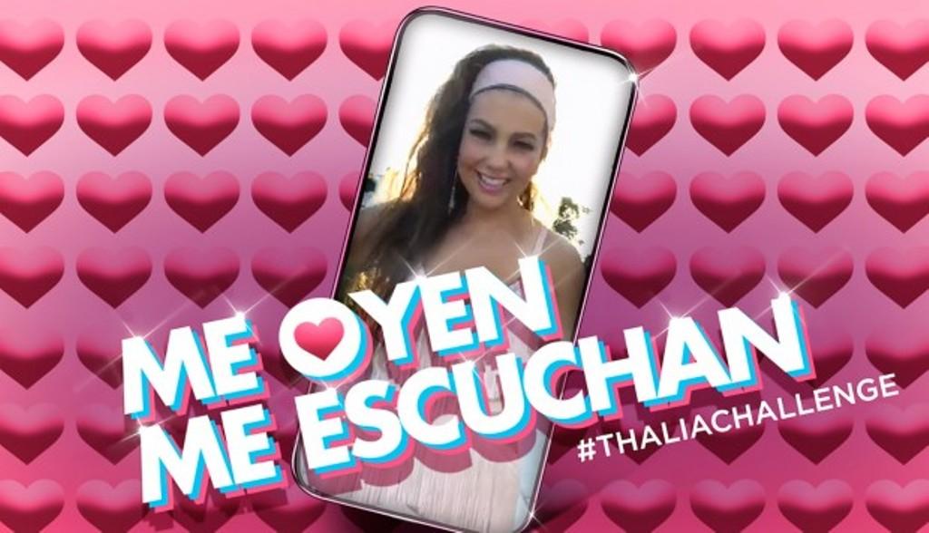 Thalia Challenge Me oyen me escuchan Emisoras Unidas