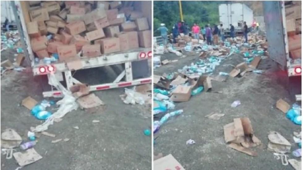 Video Viral Saqueo Accidente Veracruz México Emisoras Unidas