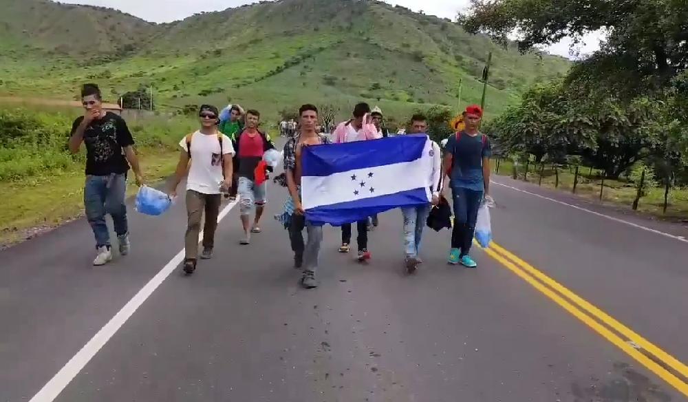 Caravana Migrantes hondureños Gobierno México Guatemala