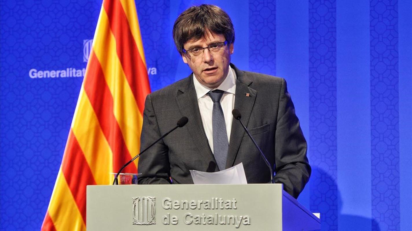 El expresidente de Cataluña, Carles Puigdemont