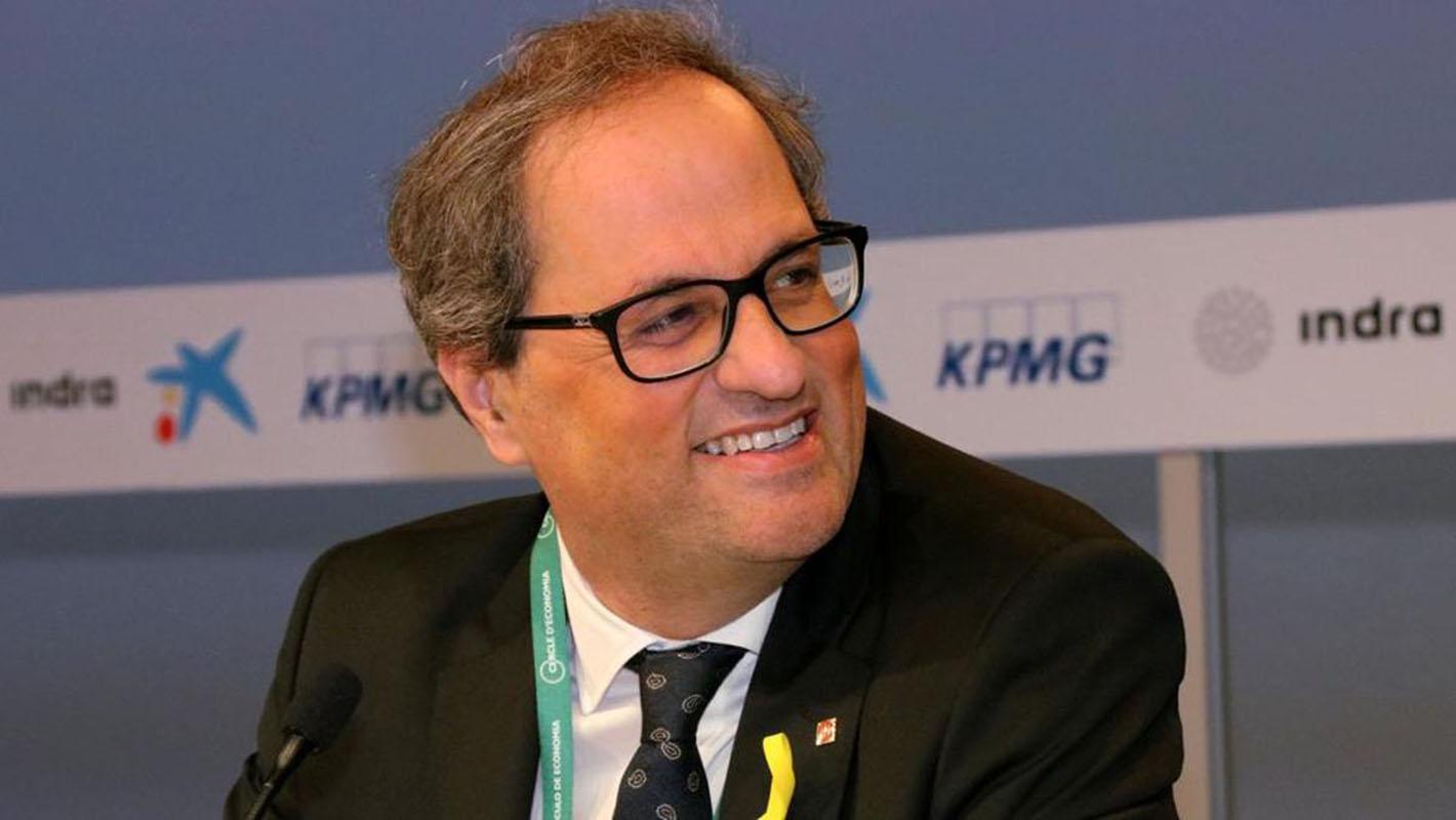 El presidente regional catalán, el independentista Quim Torra