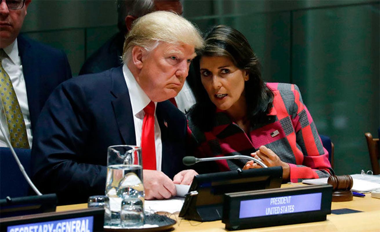 Trump confirma que Nikki Haley abandonará la ONU