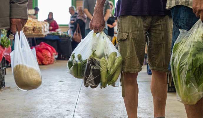 Uso de bolsas plásticas en Guatemala