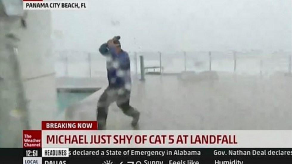 huracán michael panama city florida Jim Cantore meteorólogo Weather Channel