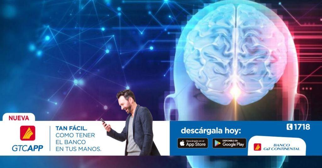 Cerebro conectar tres personas científicos tecnología