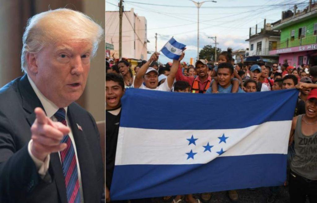Donald Trump Caravana Migrantes Hondureños