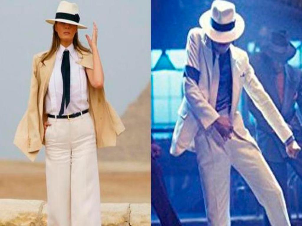 Melania Trump Egipto look