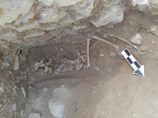 Niño vampiro Lugano arqueología Italia