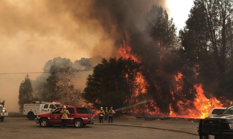 Incendio en el norte de California