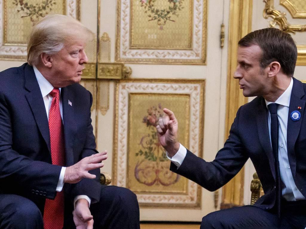 Trump ridiculiza a Macron