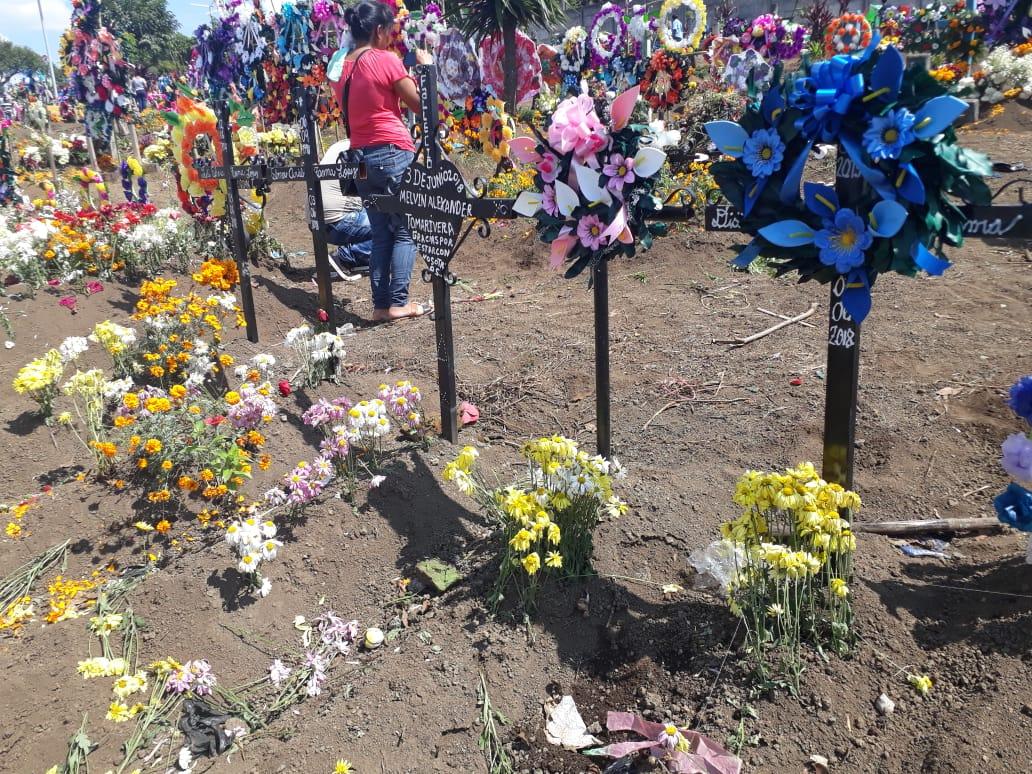 flores en cementerio