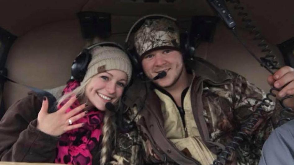 Recién casados boda helicóptero texas