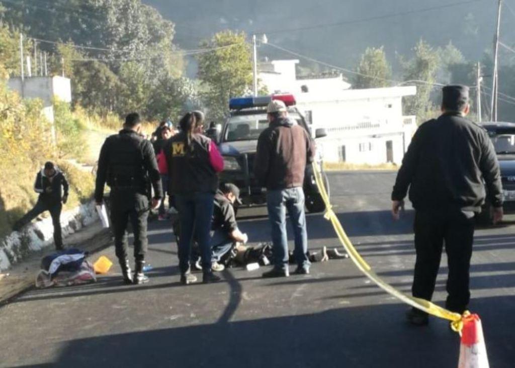 Olintepeque Quetzaltenango cuerpo hombre atropellado 24 noviembre 2018