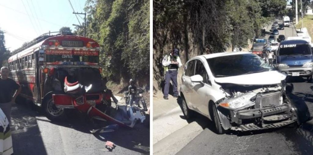 San Juan Sacatepéquez fuerte colisión herido tráfico 8 noviembre 2018