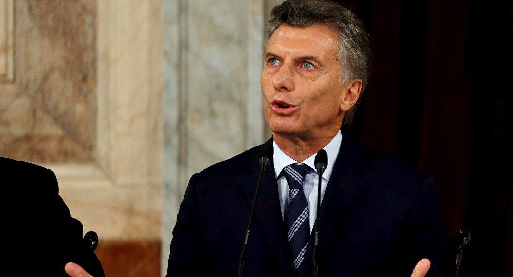 El presidente argentino, Mauricio Macri, denuncia