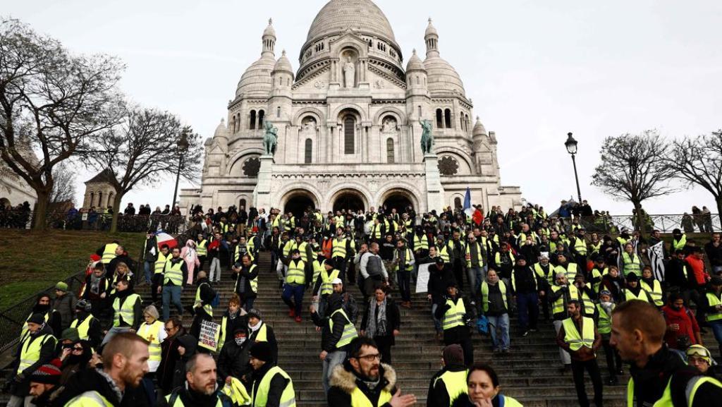 Chalecos amarillos Francia accidente bloqueo