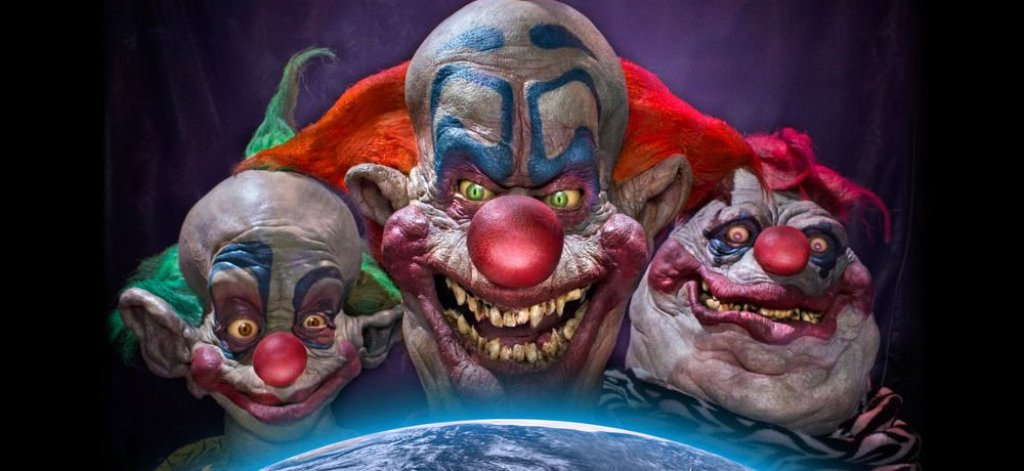 Killer Klowns maquillista principales personajes