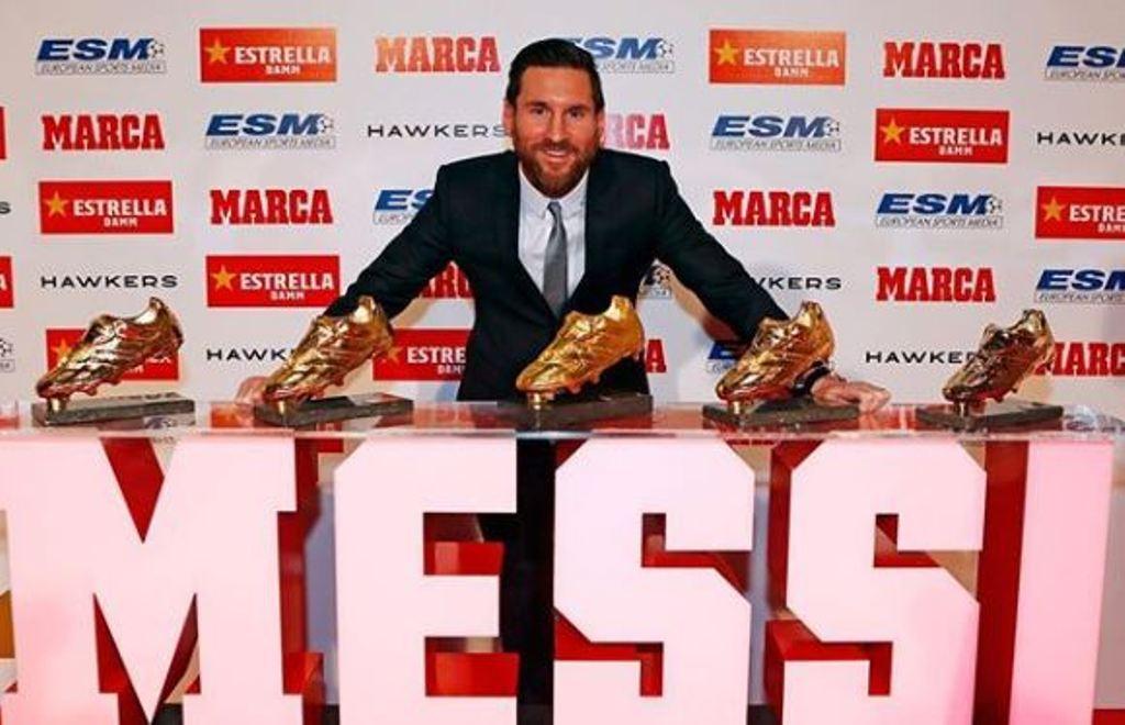 Messi Bota de Oro agradecimiento