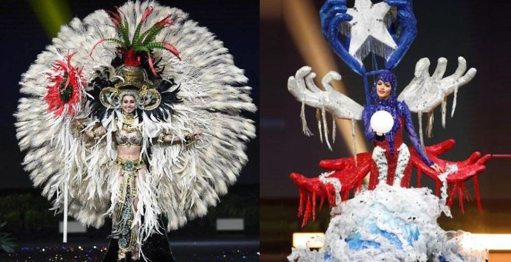Miss Puerto Rico Miss Guatemala traje típico