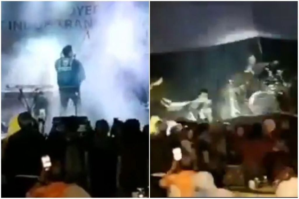 Indonesia tsunami irrumpe concierto