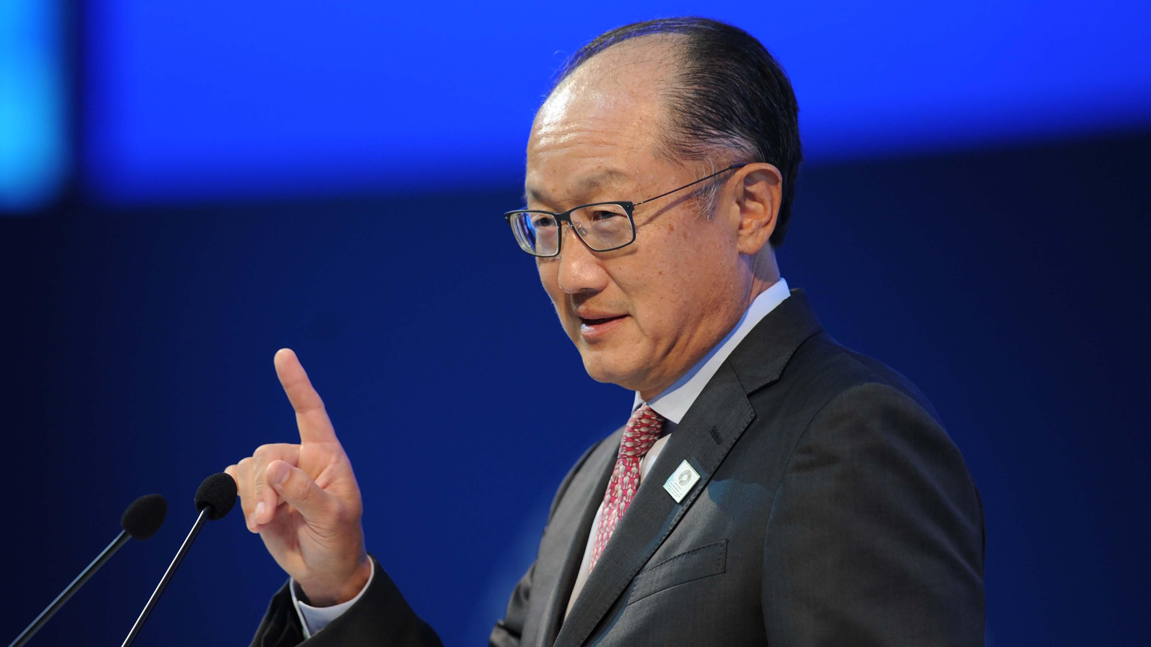 El presidente del Banco Mundial Jim Yong Kim
