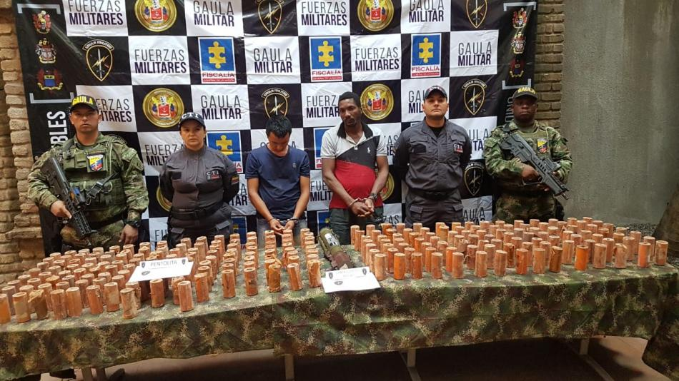 Las autoridades decomisan explosivos en Colombia