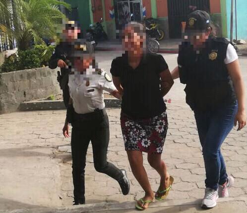 Mujer capturada trata de personas