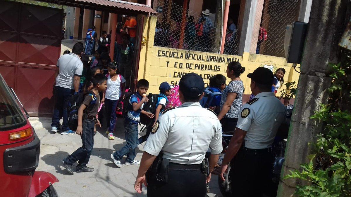 Plan de seguridad en escuelas por la PNC