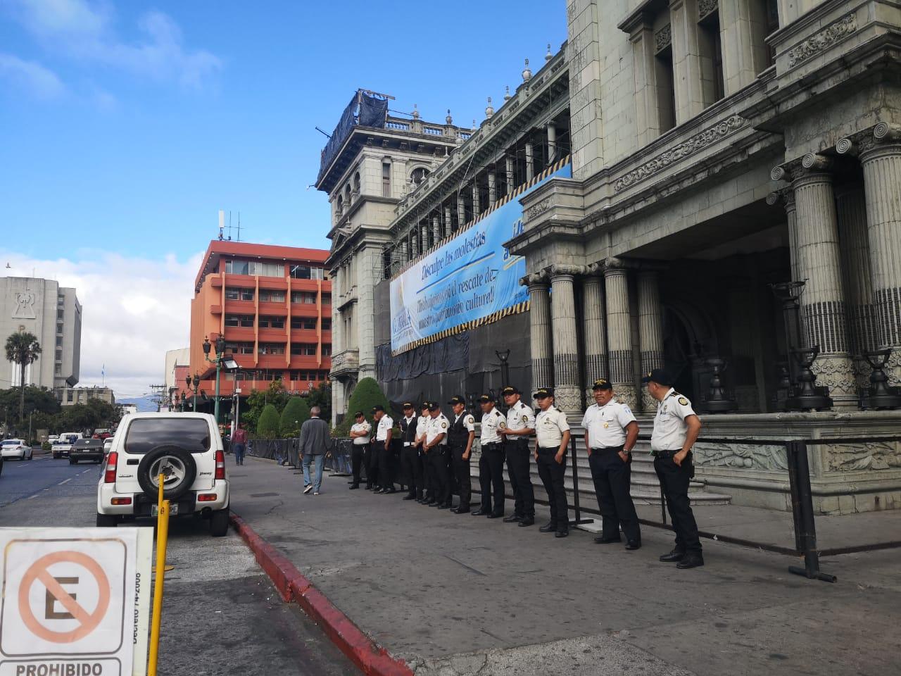 PNC en el Palacio Nacional