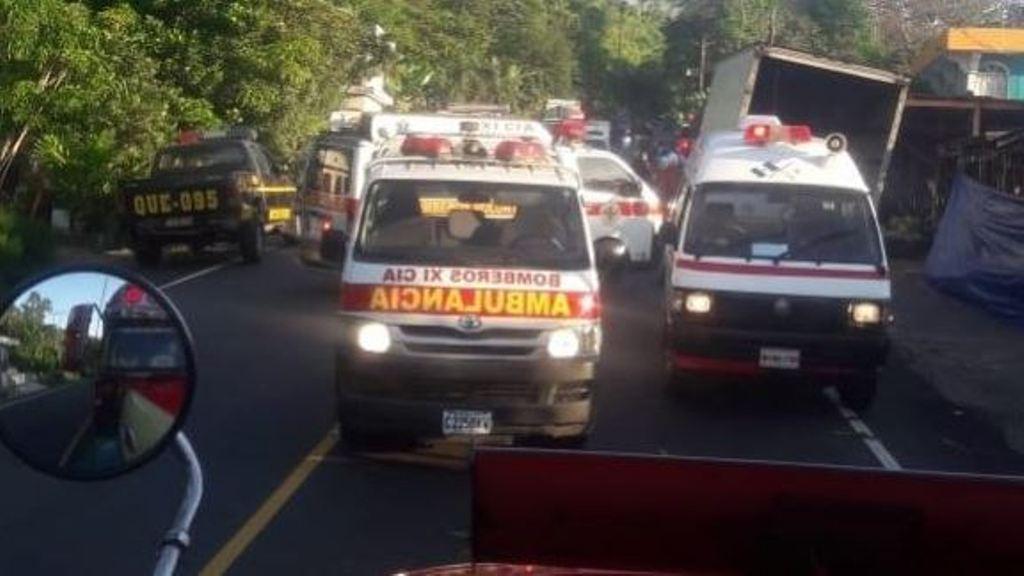 accidente ruta Retalhuleu Quetzaltenango