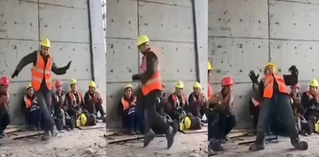 Obrero baile Michael Jackson viral