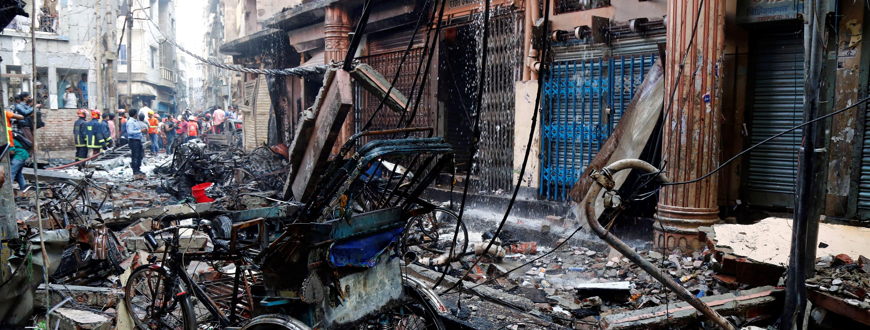 En el hospital Dhaka Medical College de la ciudad ingresaron 55 heridos