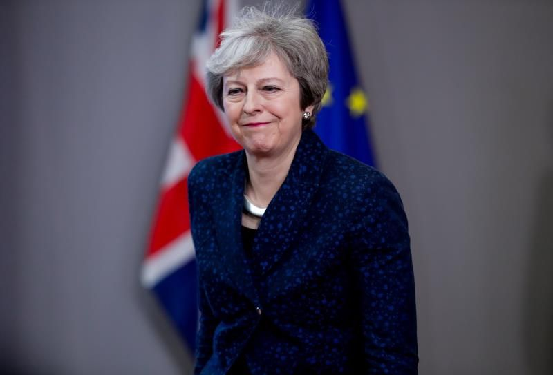 La primera ministra británica, Theresa May,