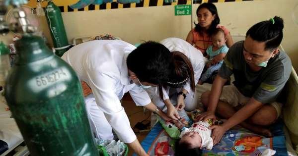 El brote de sarampión en Filipinas se agrava con 4.300 casos y 70 muertes
