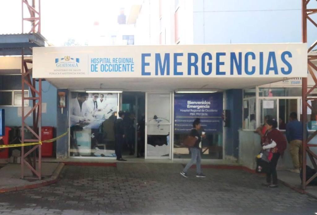 Hospital Regional de Occidente pacientes suspensión Quetzaltenango