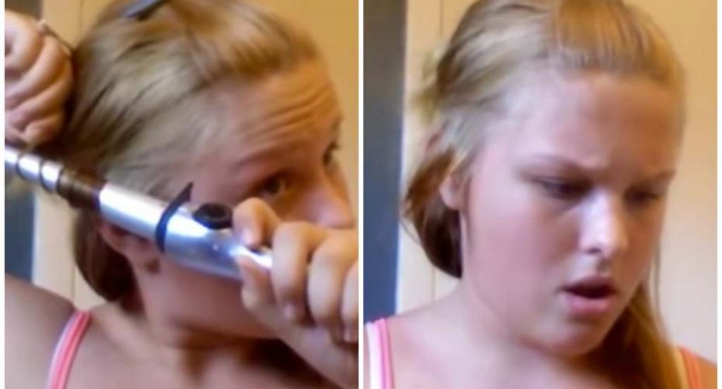 Tori Locklear joven quemó su pelo tutorial de belleza