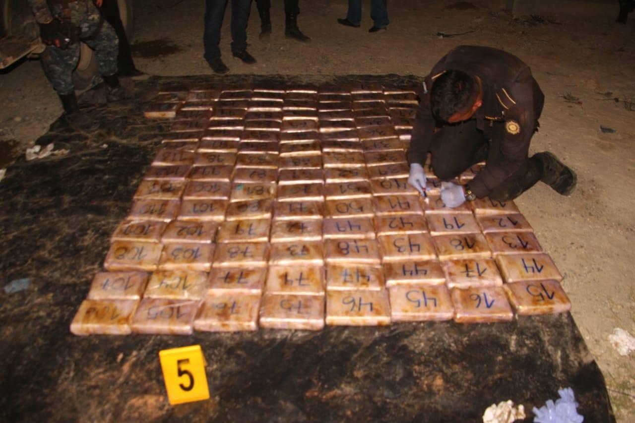 PNC paquetes cocaína Guatemala