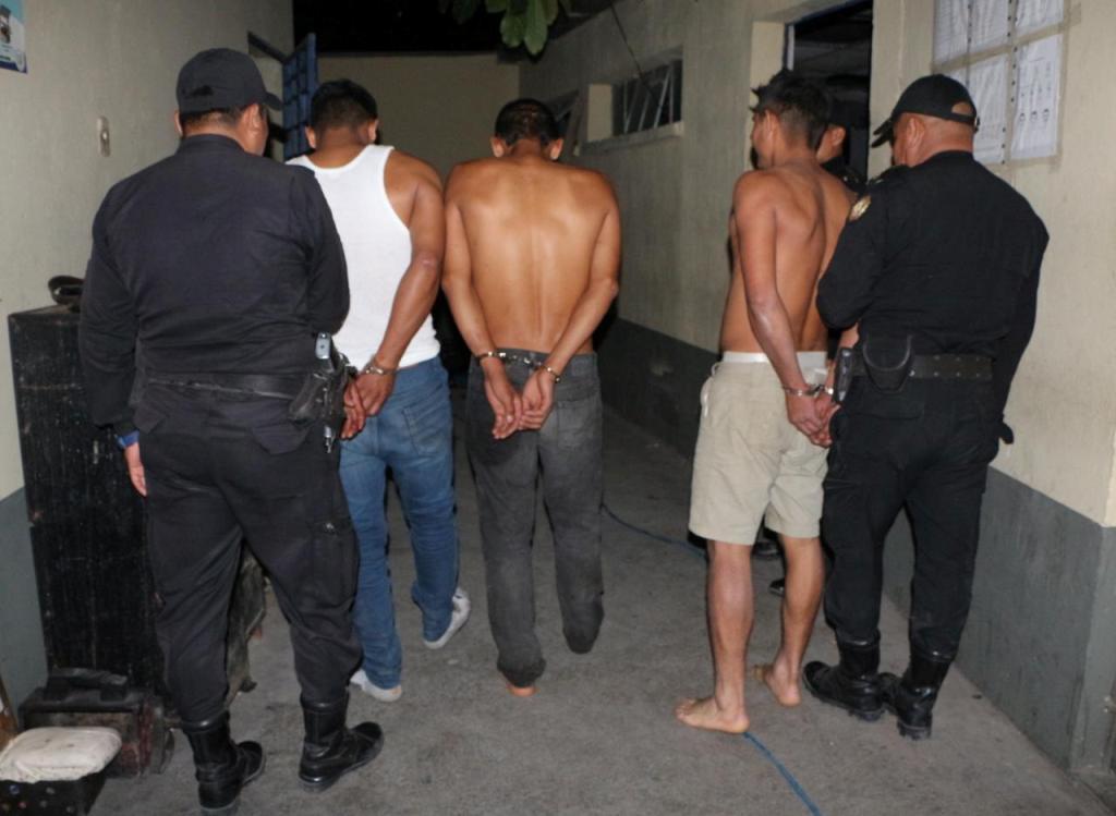 Sanarate tres hombres sindicados delitos PNC