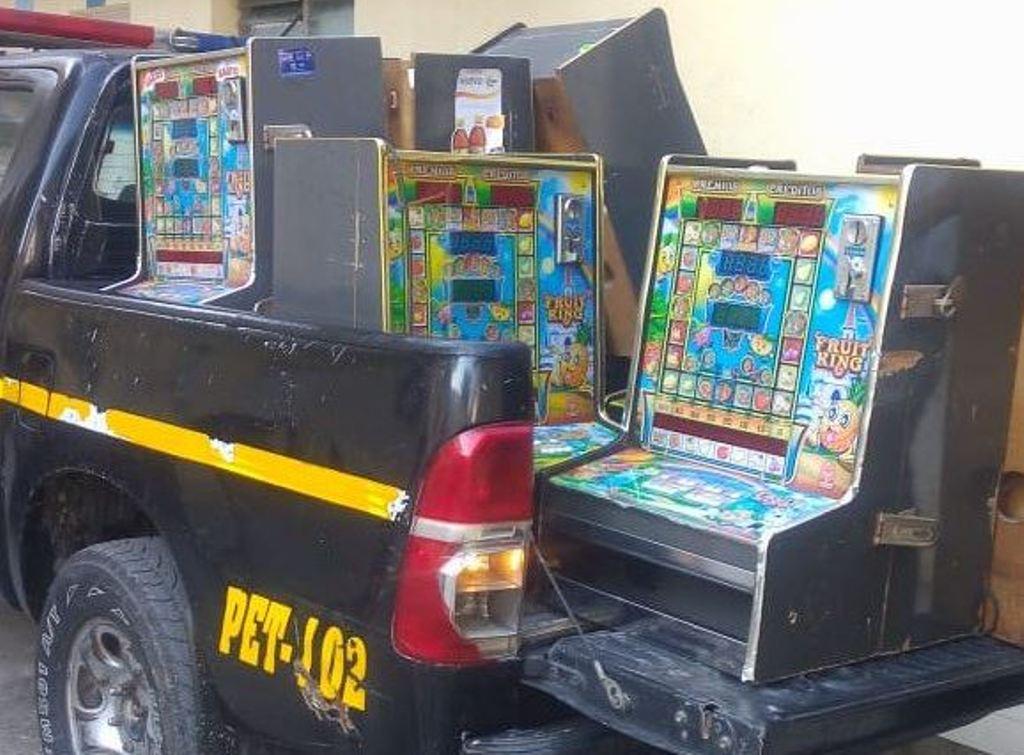 Petén Izabal PNC máquinas tragamonedas