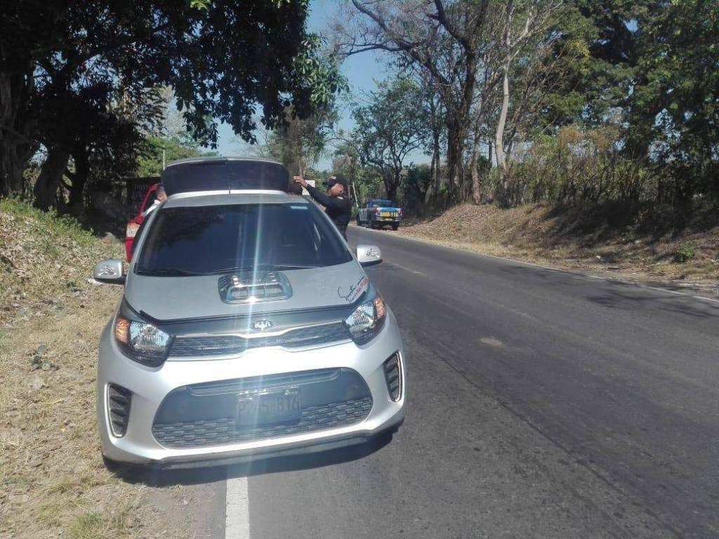 San Marcos PNC vehículos reporte de robo