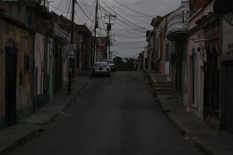 Nuevo apagón en Caracas. Foto: EFE