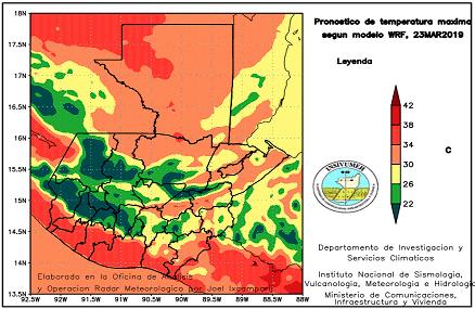 Temperaturas cálidas en el territorio guatemalteco. Foto: Insivumeh.