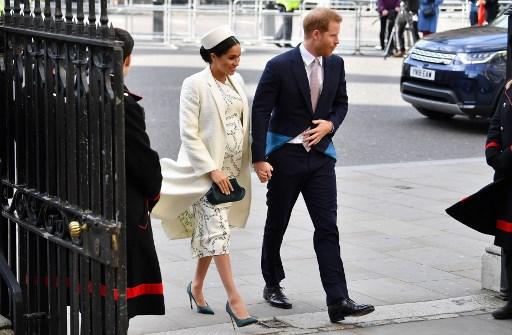 Meghan Markle y el Príncipe Harry. Foto: AFP.