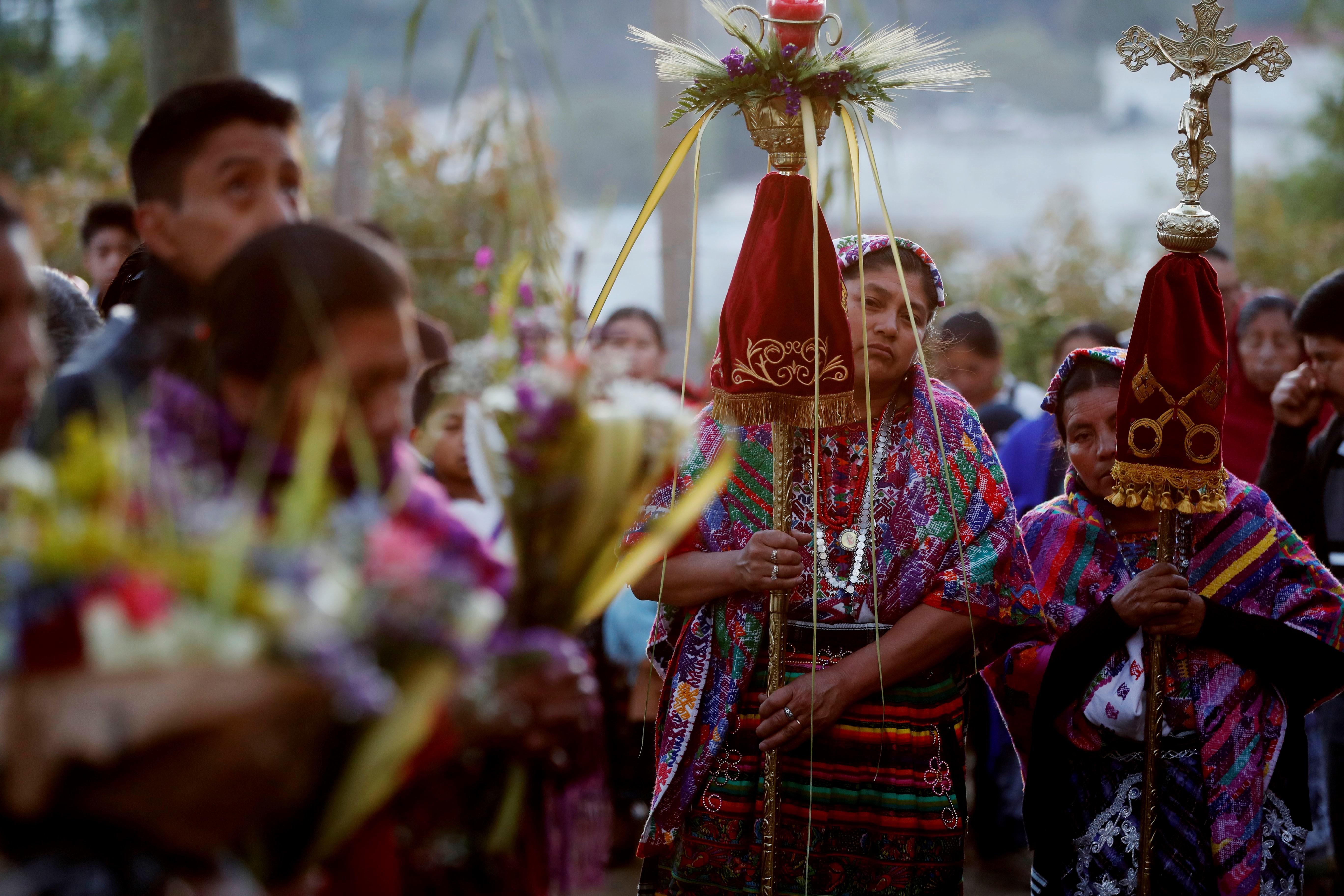 Domingo de Ramos en San Pedro Sacatepéquez, Guatemala