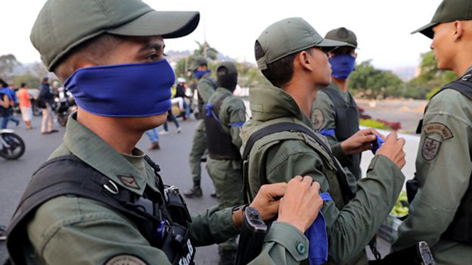 Militares venezolanos piden asilo. Fotografía con fines ilustrativos.